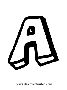 The Letter A Free Coloring Page Preschool Activities and