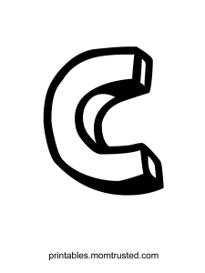 The Letter C ~ Free Coloring Page Action Jackson C 225x300