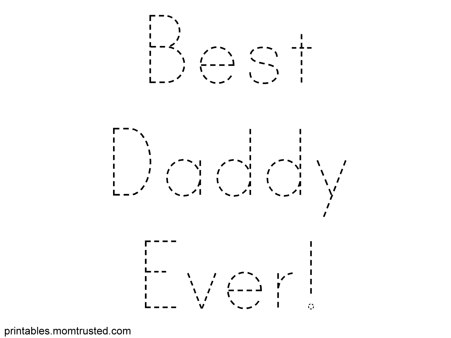 fathers day traceable tag preschool activities and