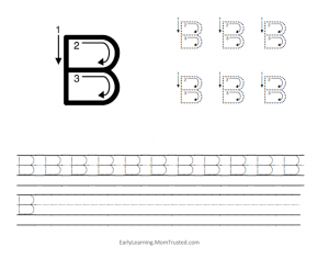 Learning How to Write the Capital Letter B MomTrusted Capital B 300x235