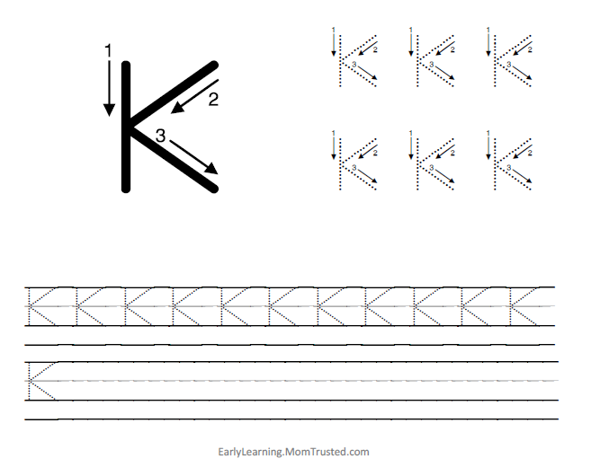 The Letter K Category Preschool Activities and – Letter K Worksheets for Preschoolers