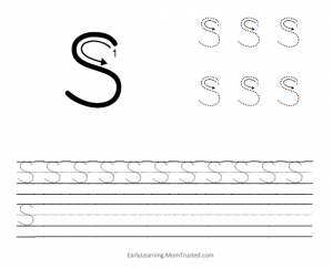 Learning How to Write the Capital Letter S MomTrusted Capital S 300x243