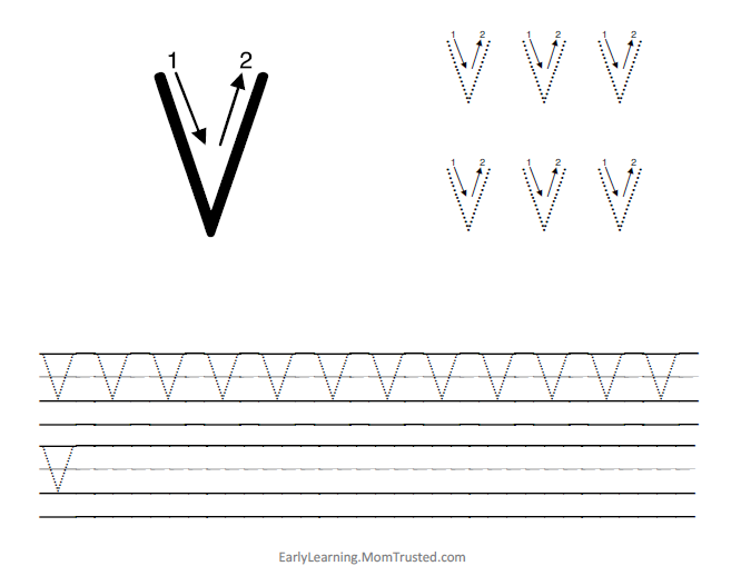 learning how to write the capital letter v preschool activities and printablespreschool activities and printables