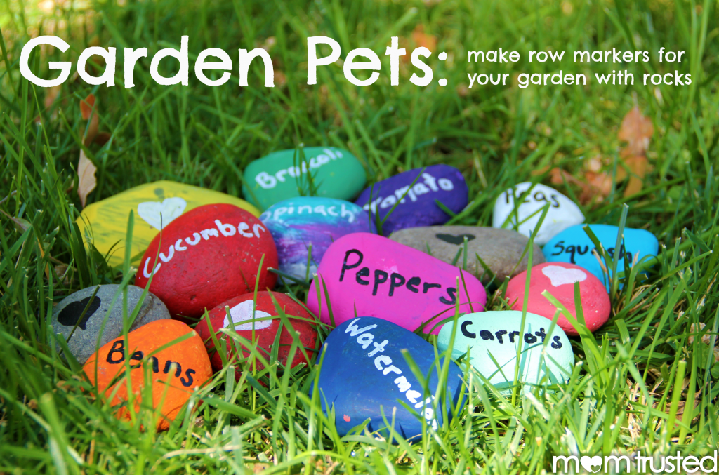 Garden Pets: make plant row markers with rocks Garden Pets.fw  1024x677