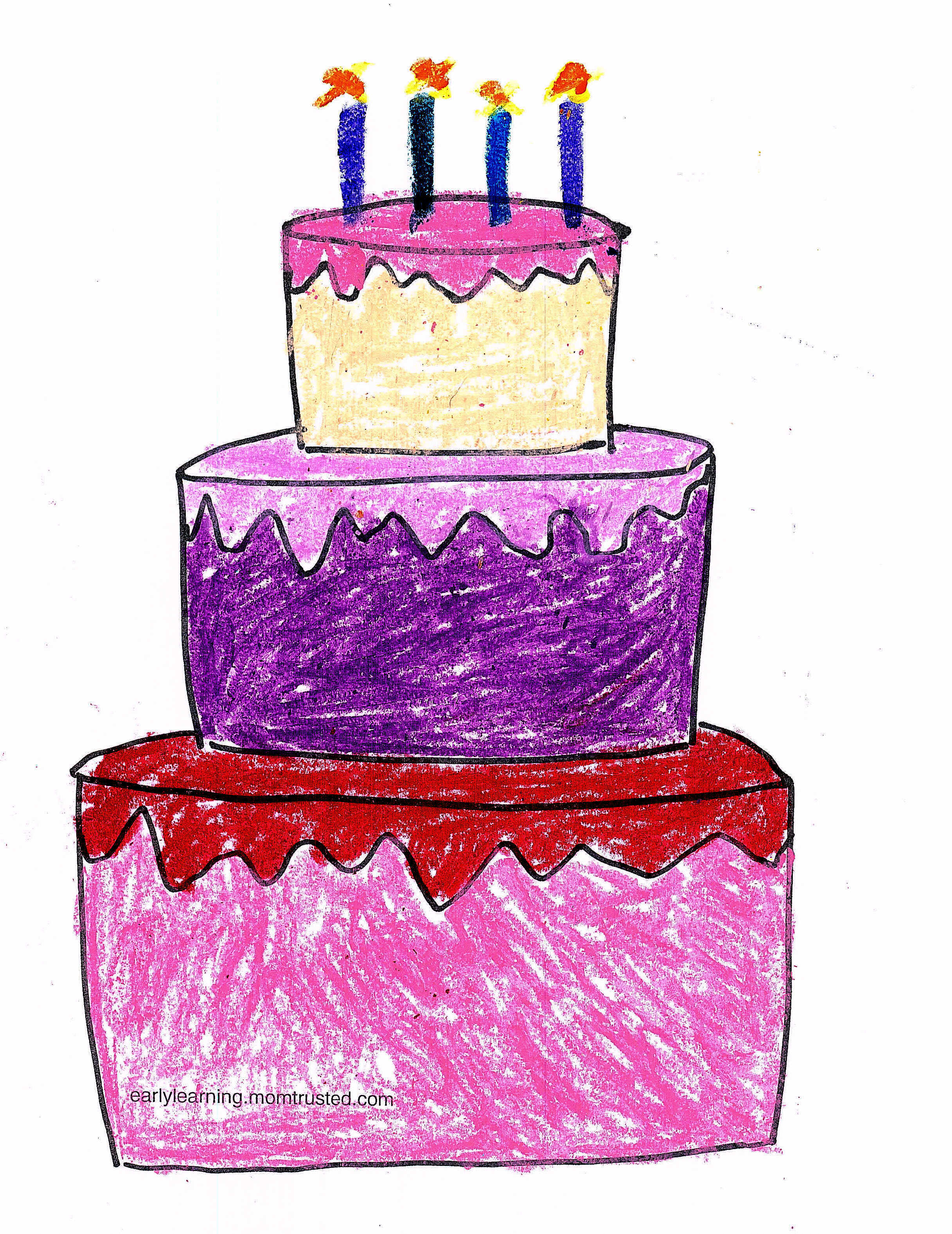 - Birthday Coloring Page - Preschool Activities And
