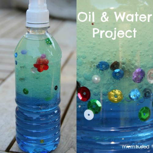 oil and water project for kids preschool activities and