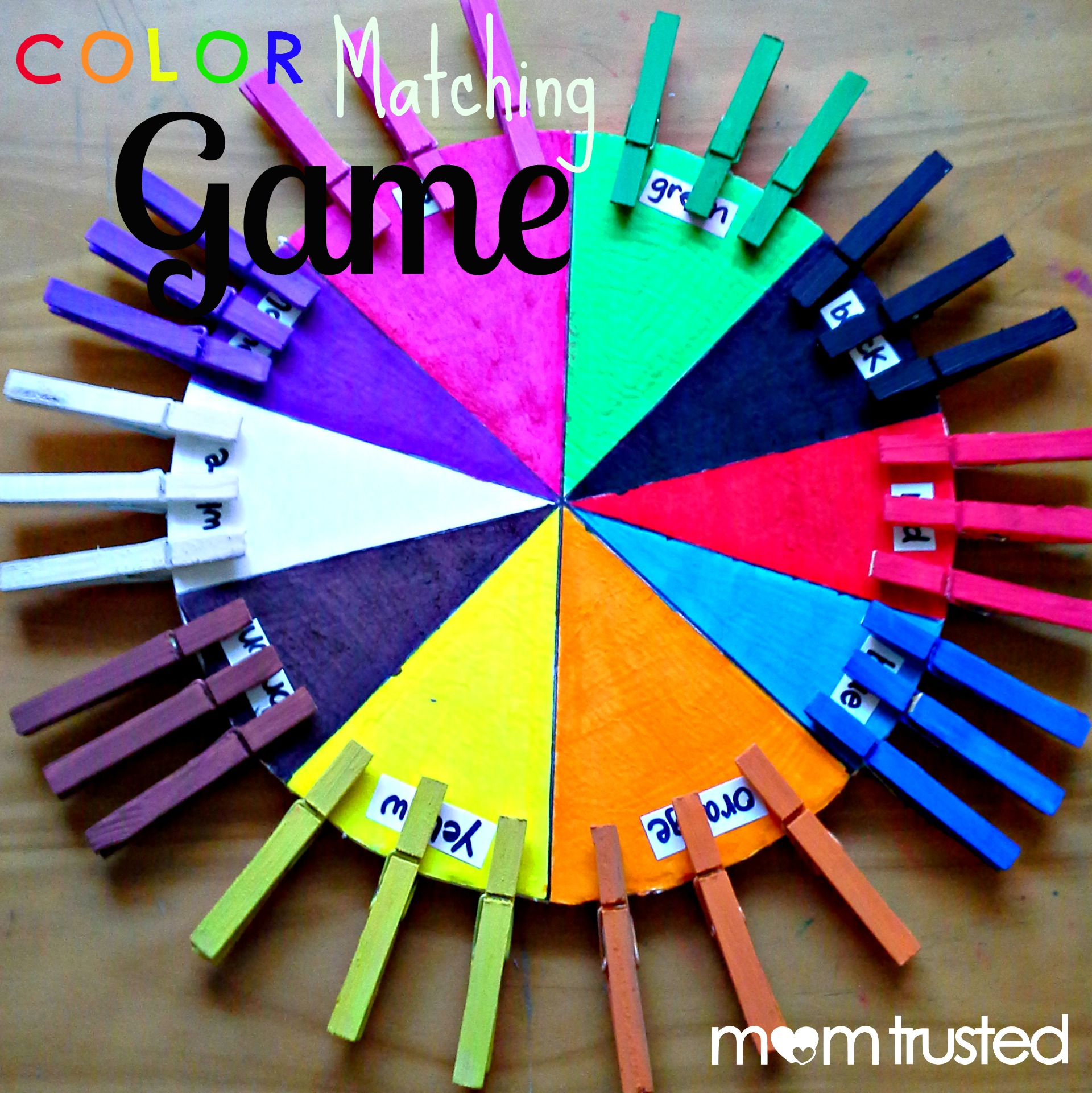 Color games for pre k - How To Make This Color Matching Game For Your Preschooler