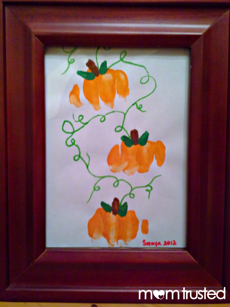 Preschool Pumpkin Project: making pumpkin prints with your knuckles 20120921 225839a 768x1024