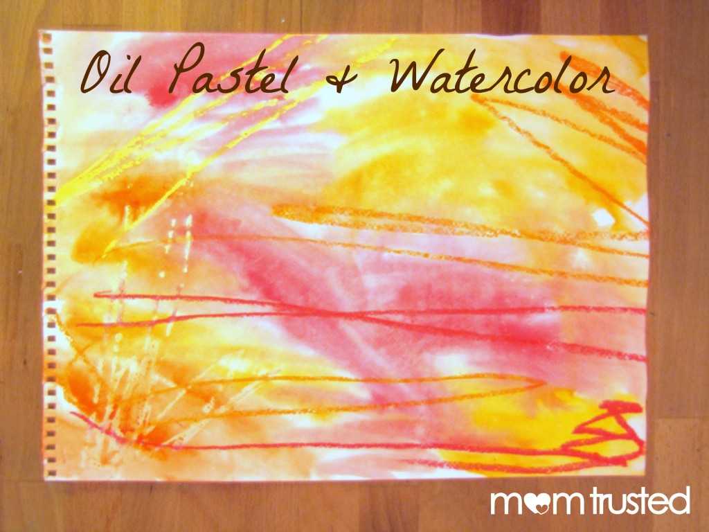 Oil Pastel & Watercolor Resist Painting oil and watercolor image 1024x768