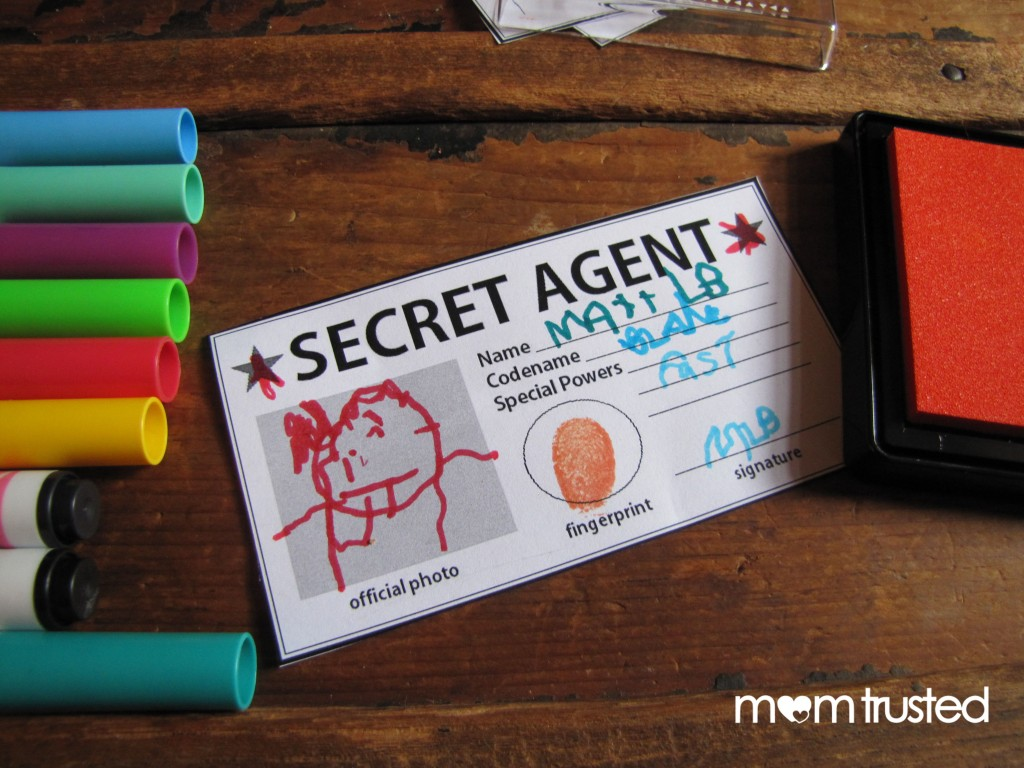Secret Agent ID Card   Free Printable! secret agent lead2 1024x768