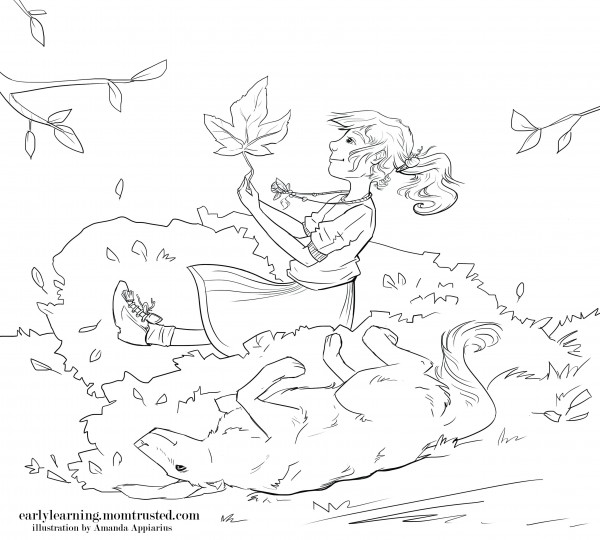 The Perfect Leaf   Fall Coloring Page coloring book page the perfect leaf e1354052596566