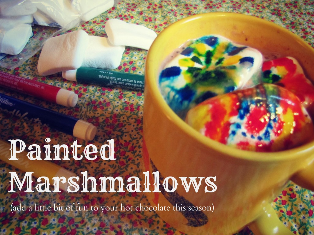 Patterned Marshmallows for Hot Cocoa painted marshmallows 1024x767