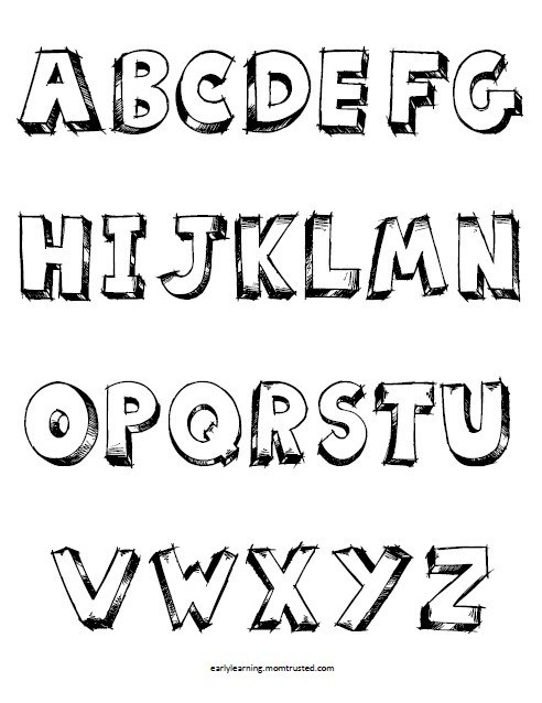alphabet coloring pages Tag - Preschool Activities and ...