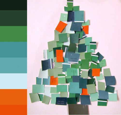 Paint Sample Wreath and Tree colorsampletree chips e1354651022872