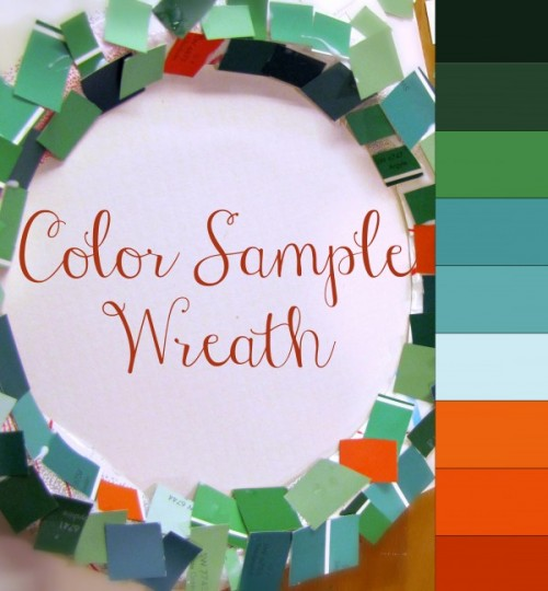 Paint Sample Wreath and Tree colorsamplewreath chips e1354650639517