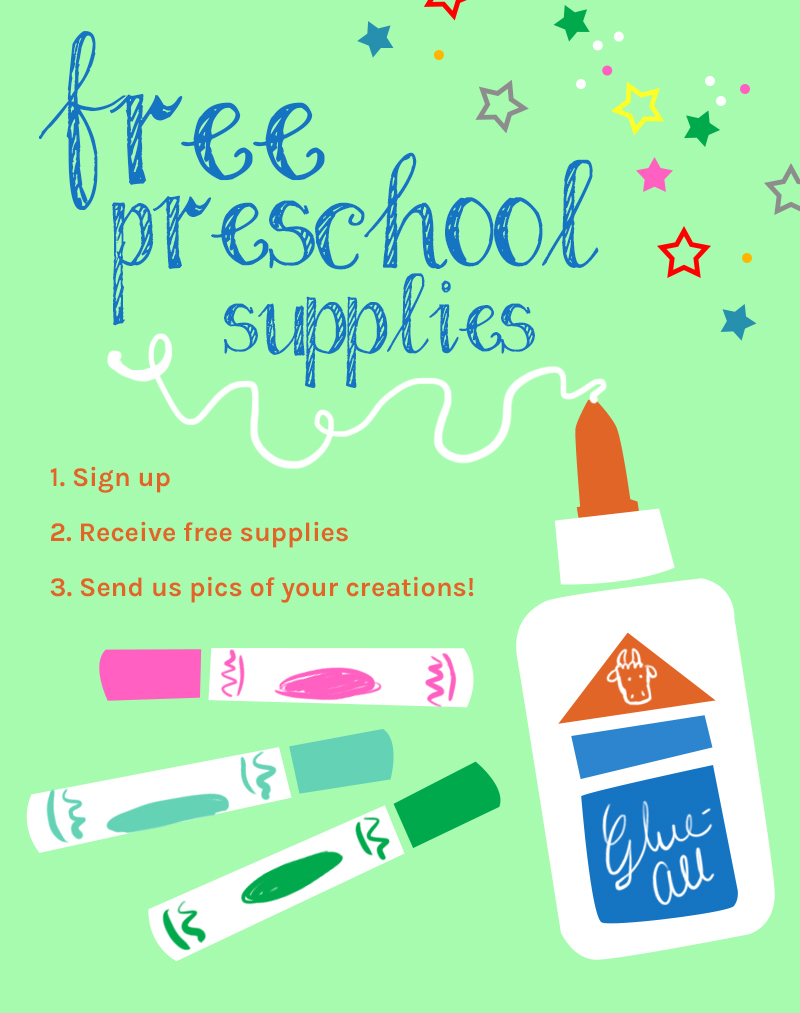 Free Preschool Supplies Program preschool supplies