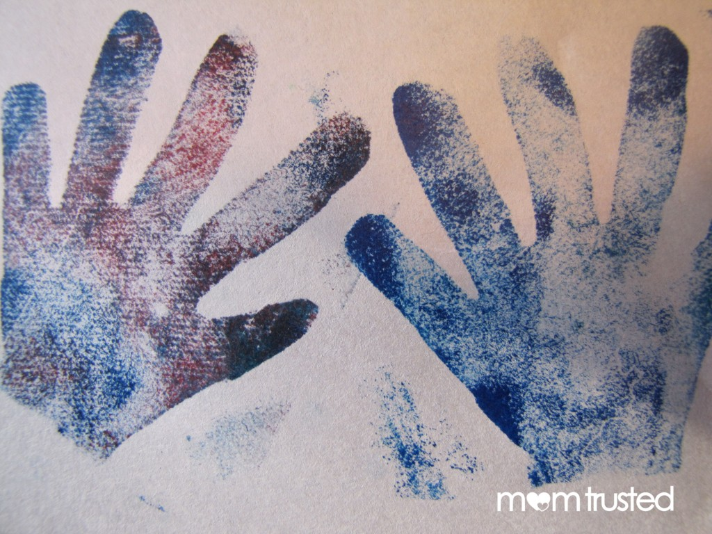 hand 6 1024x768 Multi Colored Hand Stamp Project
