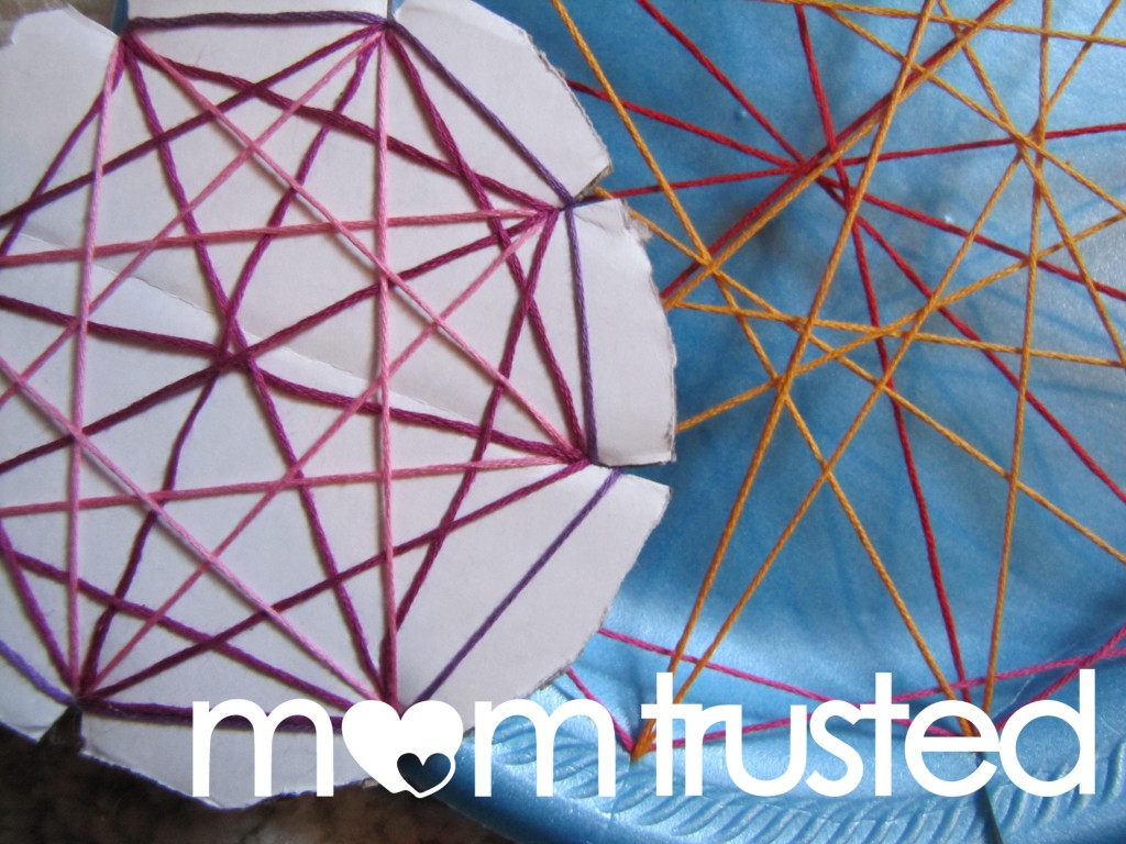 Easy Geometric String Art for Preschoolers string lead 1024x768