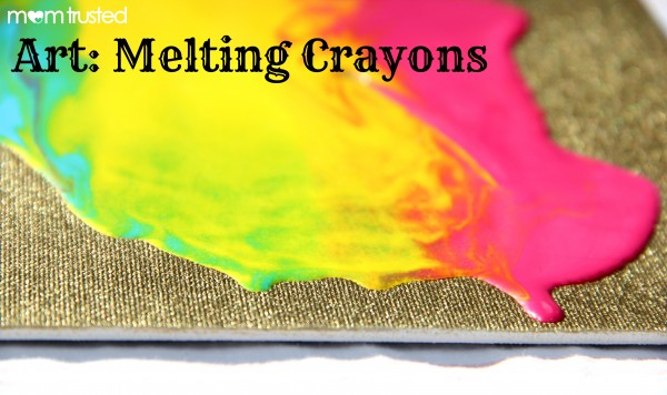 Creating Artwork by Melting Crayons art melting crayons e1360283509417