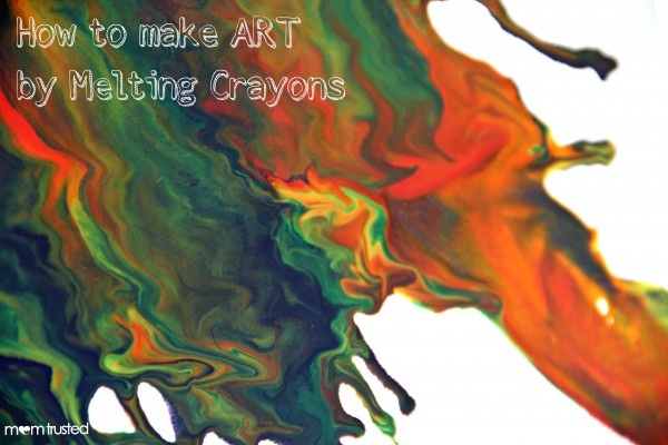 Creating Artwork by Melting Crayons melting crayons e1360284449776