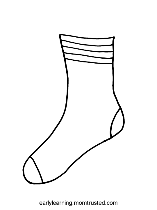 picture of socks coloring pages - photo#16
