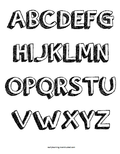 Pop Up Letters & Alphabet Coloring Pages   Uppercase and Lowercase Download A Z UPPER Preview e1362226372144