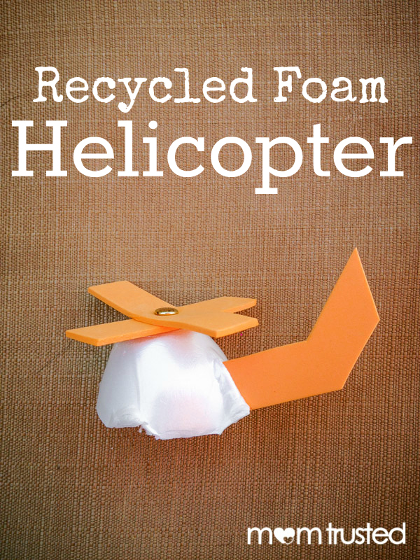 Recycled Foam Helicopter Craft recycled foam helicopter momtrusted
