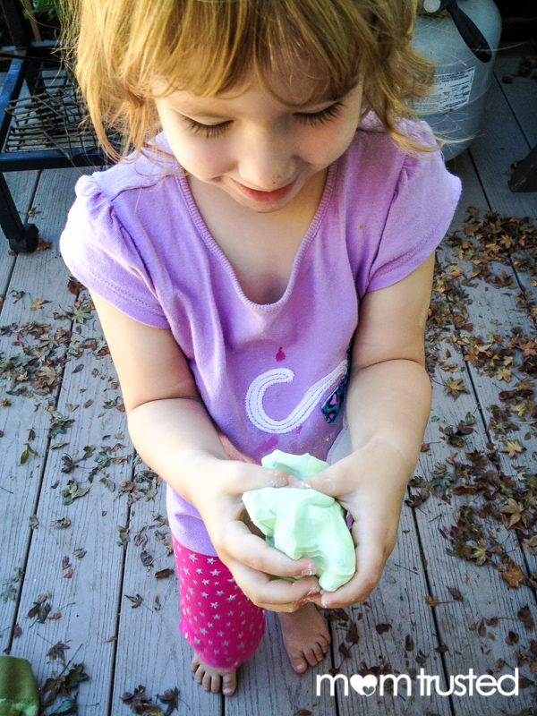 color mixing homemade play dough