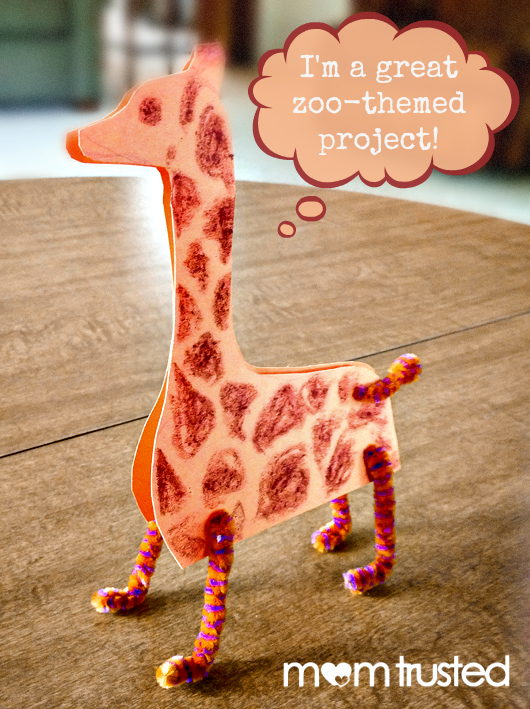 standing giraffe zoo project by Mom Trusted
