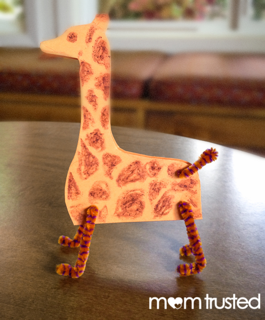 standing giraffe zoo project