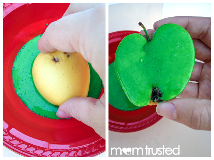 Glitter Apple Prints Dipping
