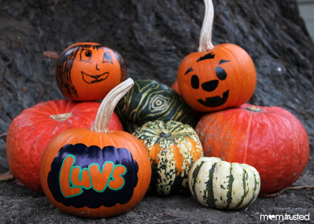 Paint Pen Pumpkin Decorating Paint Pen Pumpkins by MomTrusted 1 wm 1024x732
