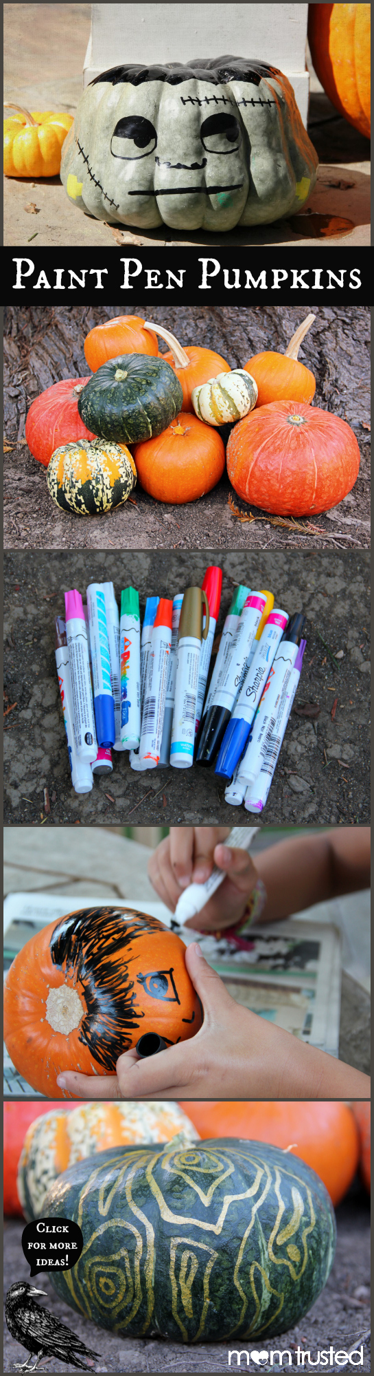 Paint Pen Pumpkin Decorating paint pen pumpkins by Mom Trusted title