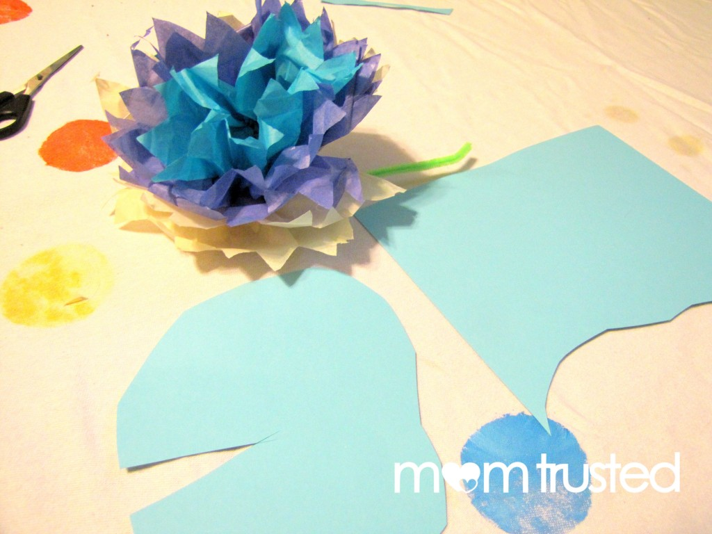 Monet Inspired Waterlilies Project for Kids waterlily 7 1024x768