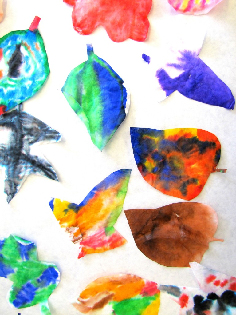 Hot and Cool Colors Lesson Making Leaves cool leaves 6 768x1024