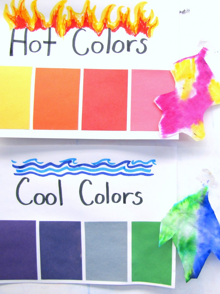 Hot and Cool Colors Lesson Making Leaves cool leaves 7 766x1024