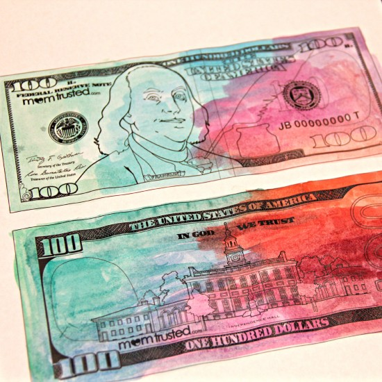 new 100 dollar bill coloring page 2