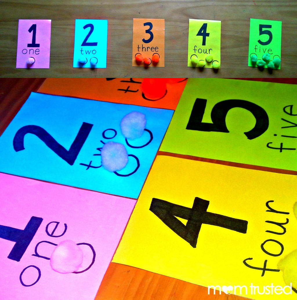 Preschool Counting Activity with Pom PomsPreschool ...