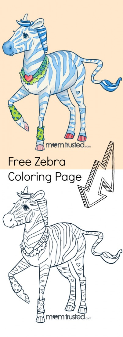 zebra coloring page